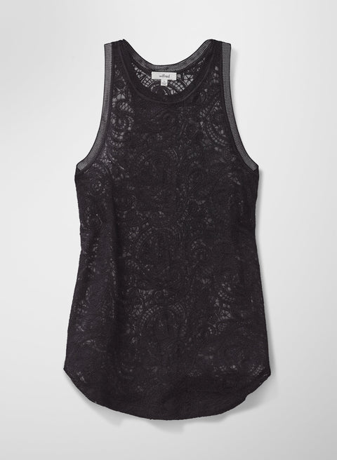 Wilfred Black Lace Tank Size L