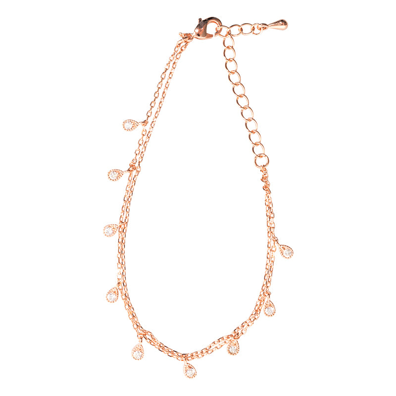 Saint Lola Rose Gold Teardrop Bracelet