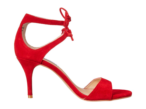 "Steve Madden ""Salsaa"" Red Strappy Heels Size 8"