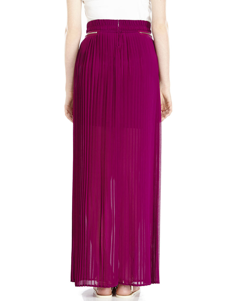 The Kooples Purple Pleated Maxi Skirt - Joyce's Closet  - 1
