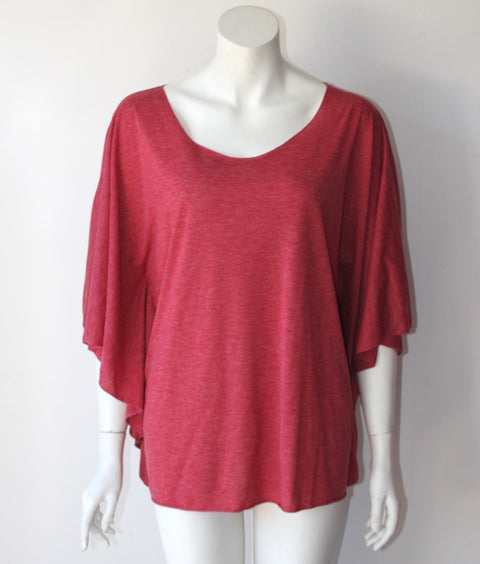 Elizaeth & James Red Bat Wing T Shirt - Joyce's Closet  - 1