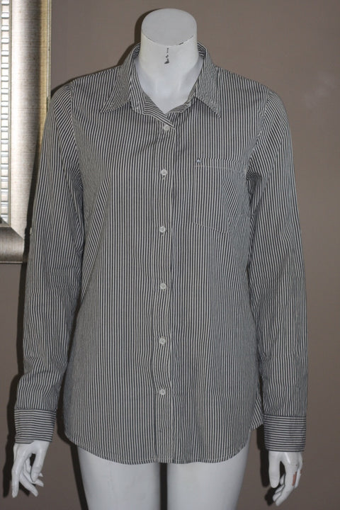 Lifetime Collective Long Sleeve Pinstripe Boyfriend Shirt - Joyce's Closet  - 1