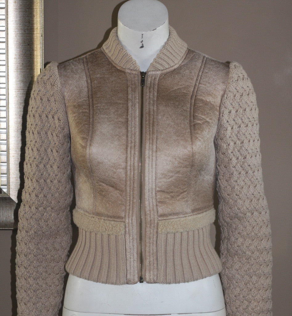 Jessica Simpson Fitted Knit Long Sleeve Jacket - Joyce's Closet  - 1