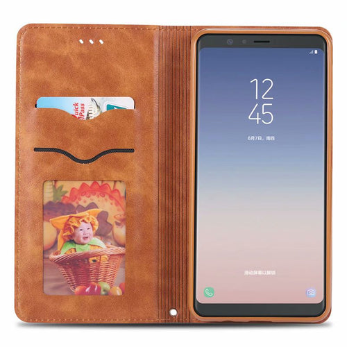 Flip Case For Samsung A9/A9s A6 A7 A8 Star Plus 2018 A6s A8s Luxury Leather Funda Etui Full Phone Covers accessories Shell Coque