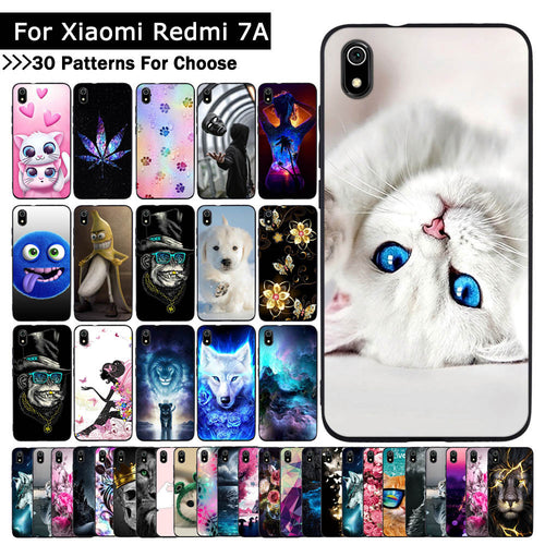 A For Xiaomi Redmi 7A Case Cartoon Animal Fashion Protective cover Luxury TPU Slicone cases mobile phone shells fundas coque
