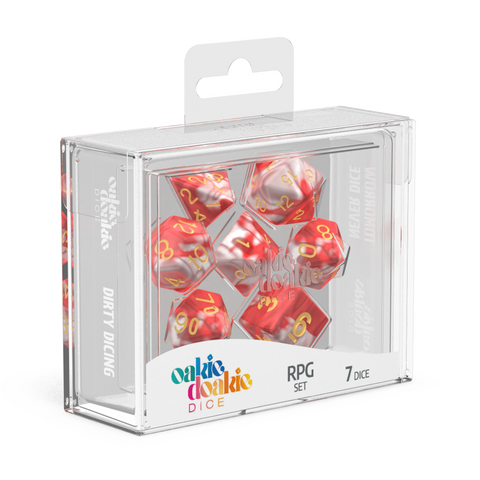 Oakie Doakie Dice RPG Set GemiDice Red Sky