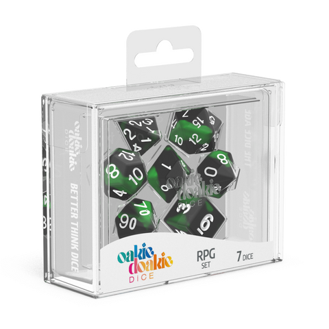 Oakie Doakie Dice RPG Set Glow In The Dark Biohazard