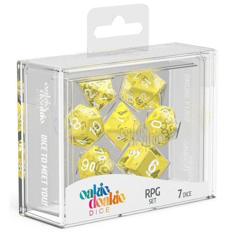 Oakie Doakie Dice RPG Set Translucent Yellow