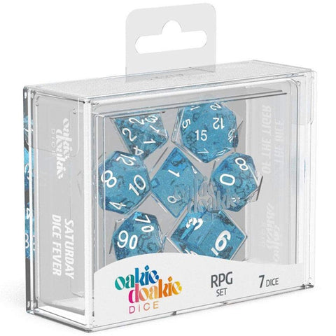 Oakie Doakie Dice RPG Set Speckled Light Blue