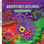 Dungeons & Dragons Adventures Outlined 5th Edition Colouring Book Monster Manual