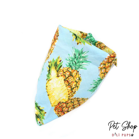 Blue Pineapple Bandana - Dali Pups