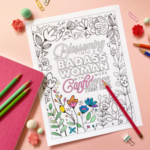 blossoming coloring page