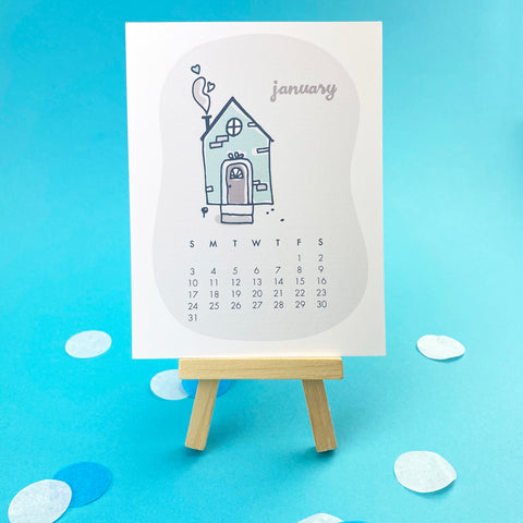 2021 Happy Homes Desk Calendar