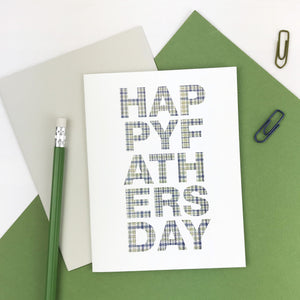 Houndstooth Type Father's Day Card