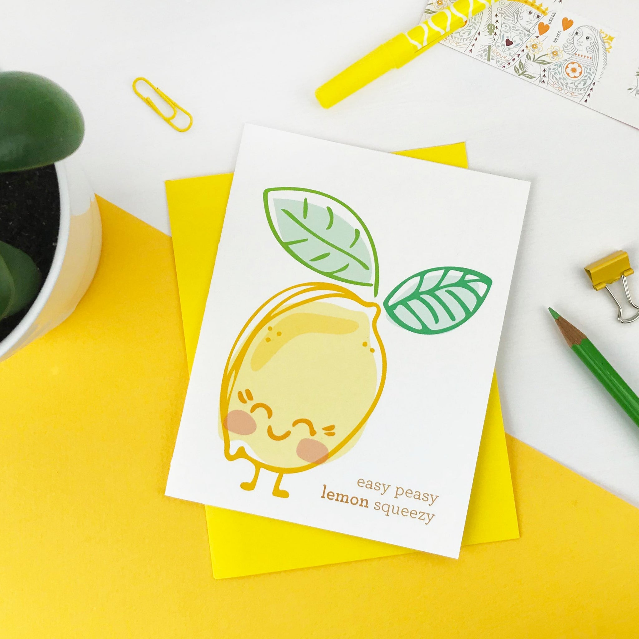 Easy Peasy Lemon Squeezy Card