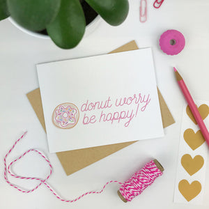 Donut Worry Card