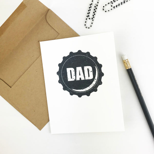 Beer Lovers Bottle Cap Father's Day Card