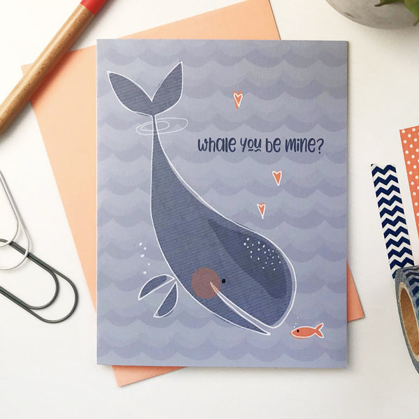 Whale You Be Mine Card