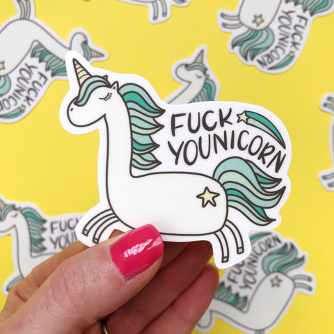 Fuck Younicorn Vinyl Sticker