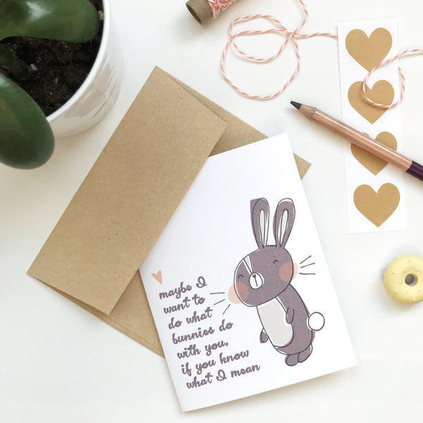 What Bunnies Do Love Card