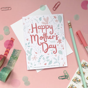 Funny Floral Mother's Day Card