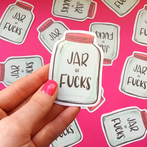 Jar of Fucks Vinyl Sticker