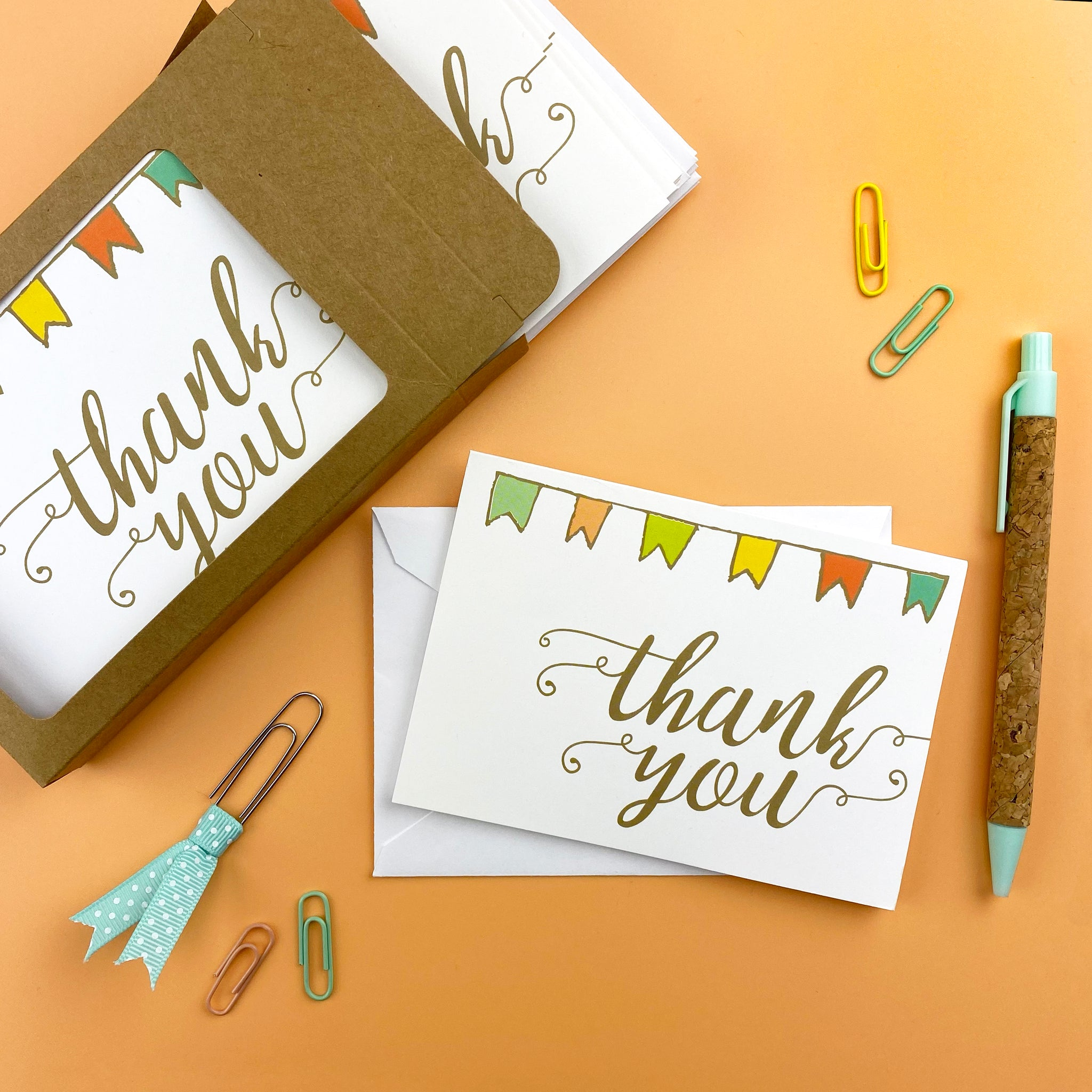 Banner Thank You Note Cards