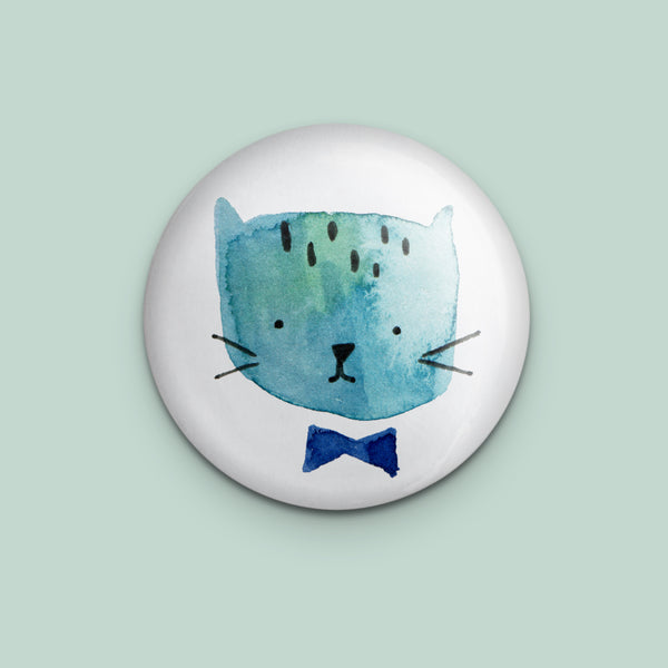 Cool Cat with Bow Tie Pin