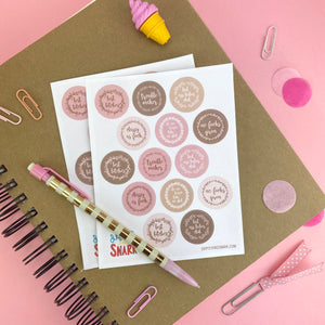 Blushworthy Banter Sticker Sheets