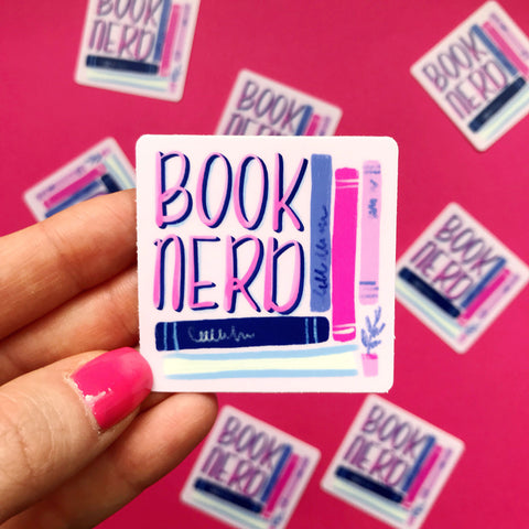 Book Nerd Vinyl Sticker