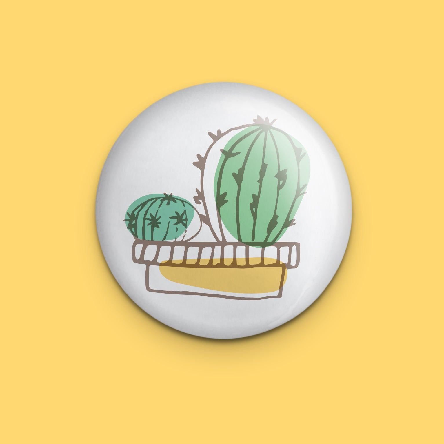 Cacti in Pot Pin