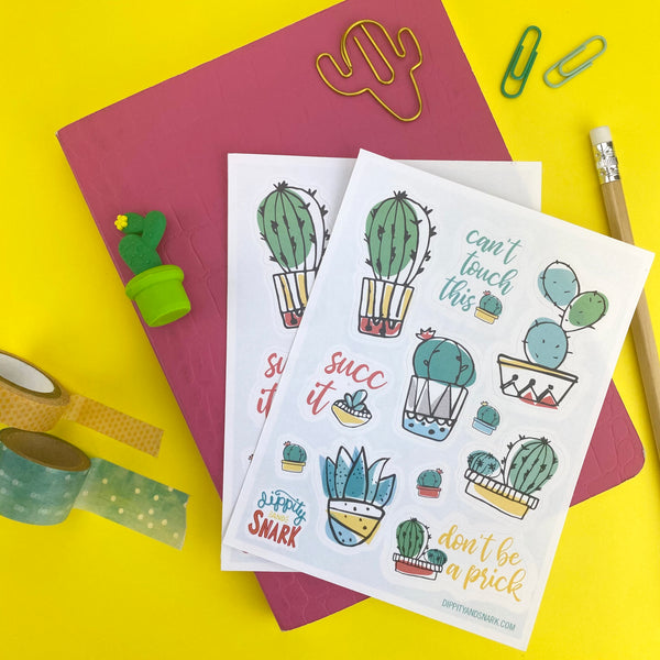 Prickly Cactus Sticker Sheets
