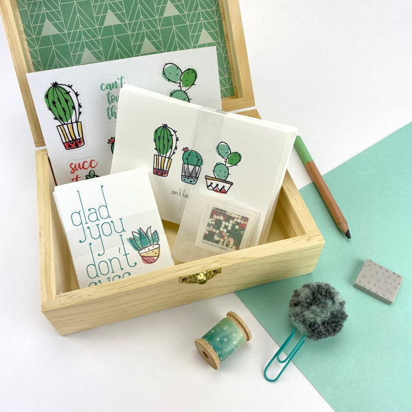 Cactus Boxed Stationery Set