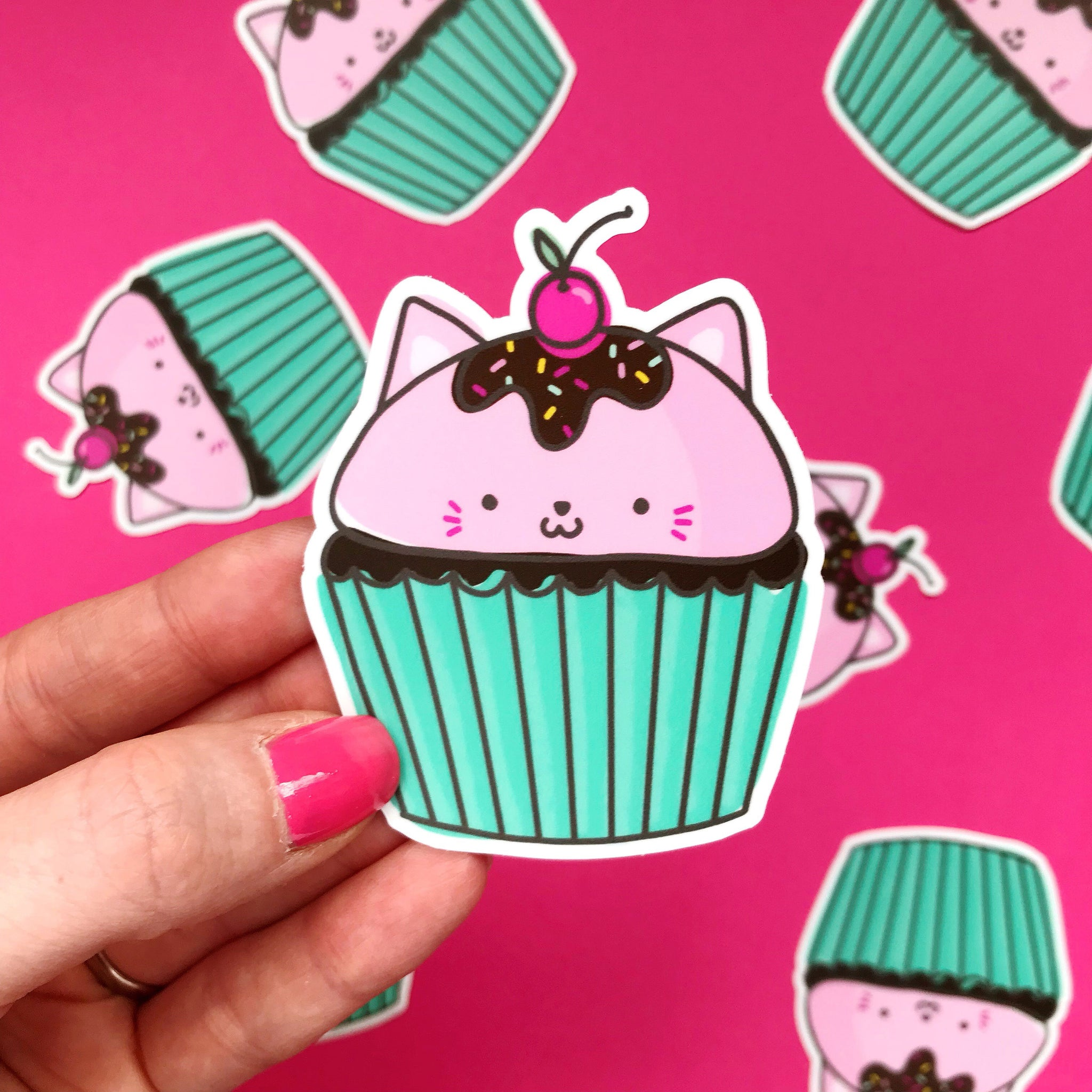 Cat Cake Vinyl Sticker