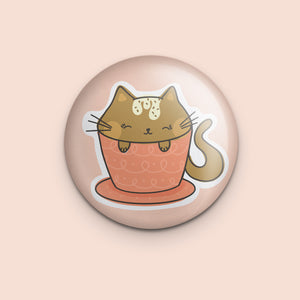 Cat-puccino Magnet or Mirror