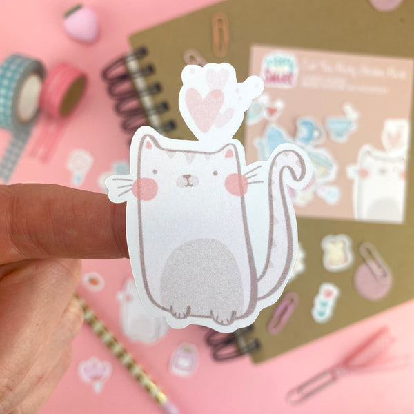 Cat Tea Party Sticker Pack