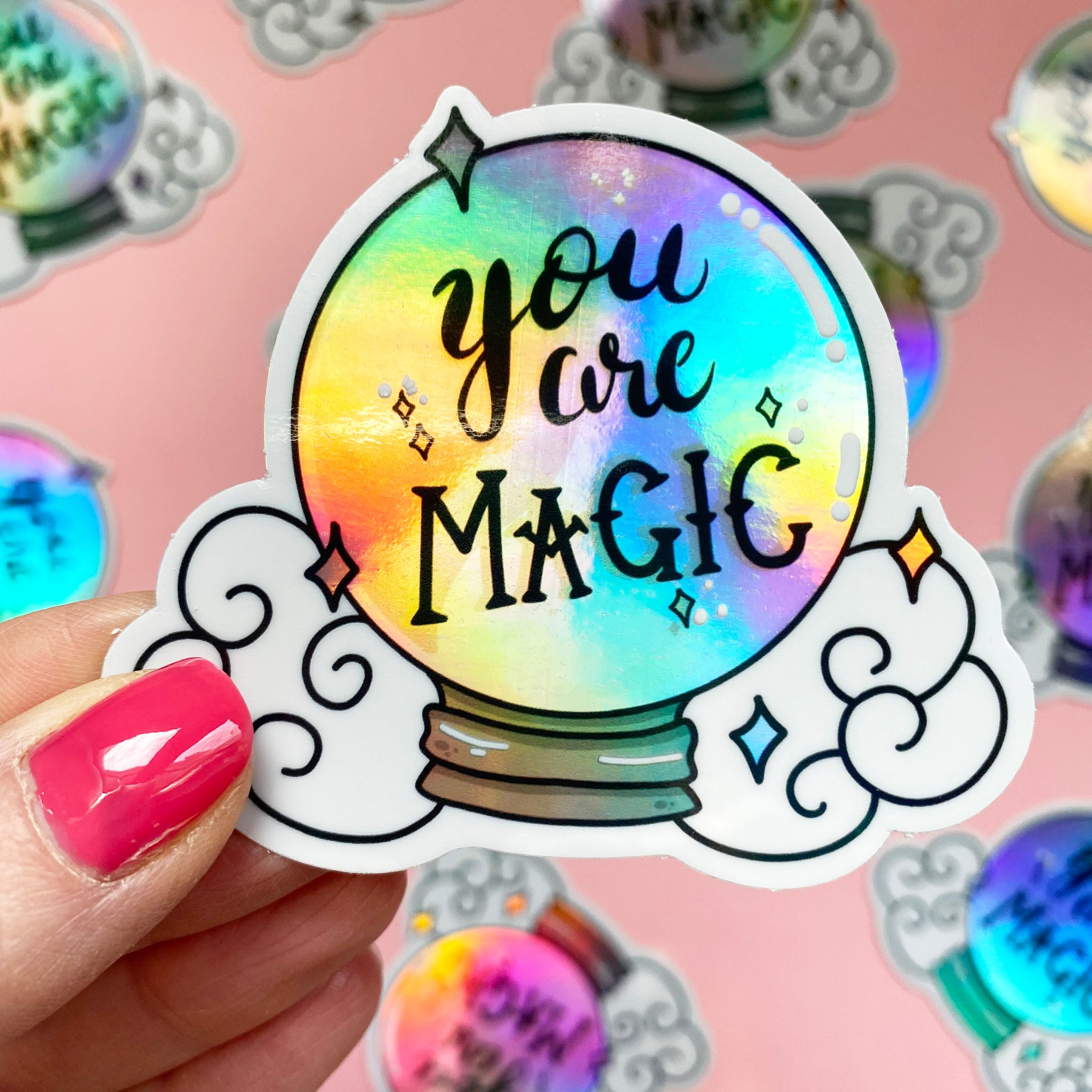 Magic Crystal Ball Holographic Vinyl Sticker