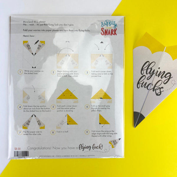 Flying Fucks Paper Planes Kit