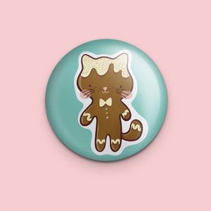 Gingerbread Cat Magnet or Mirror
