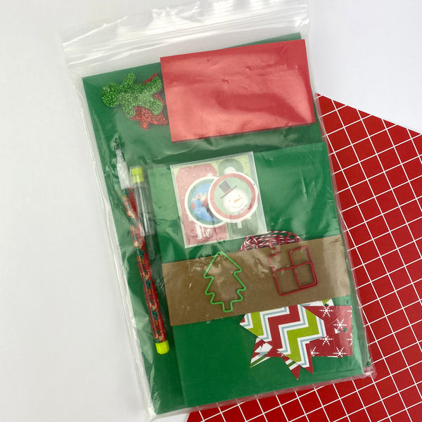 Green Christmas Stationery Set