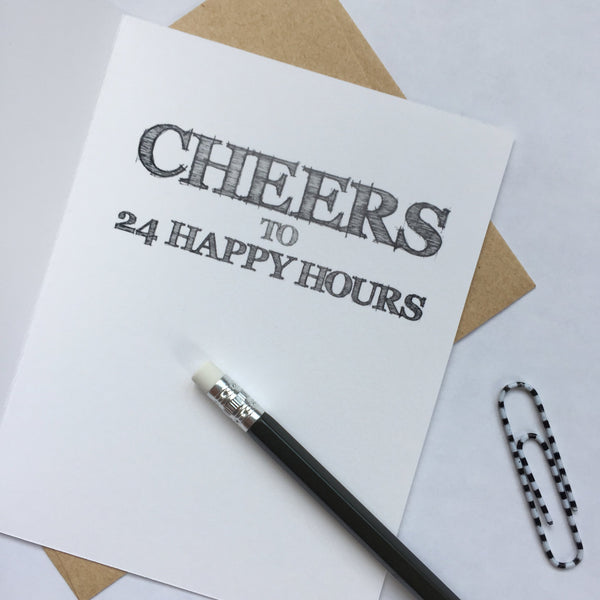 Happy Hour Birthday Card