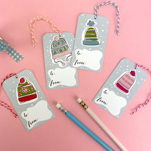 Winter Hat Gift Tags