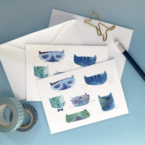 Cool Cats Note Cards