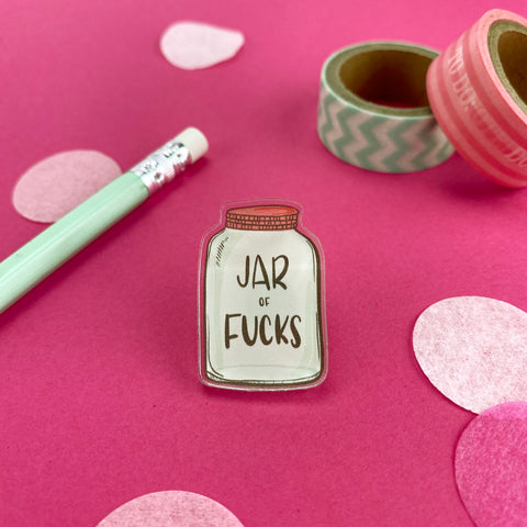 Jar of Fucks Acrylic Pin