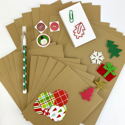 Kraft Christmas Stationery Set