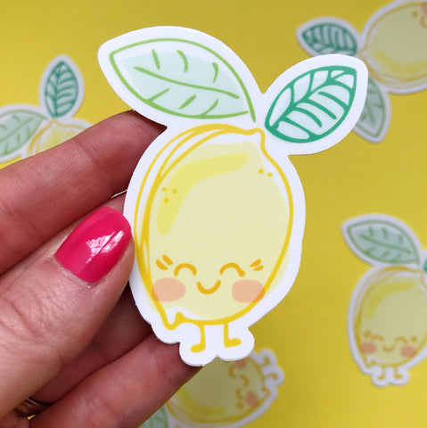 Lemon Vinyl Sticker