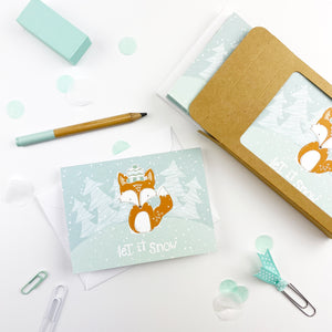 Let it Snow Note Cards