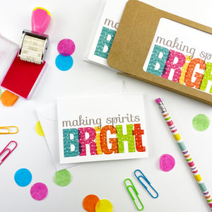 Making Spirits Bright Note Cards