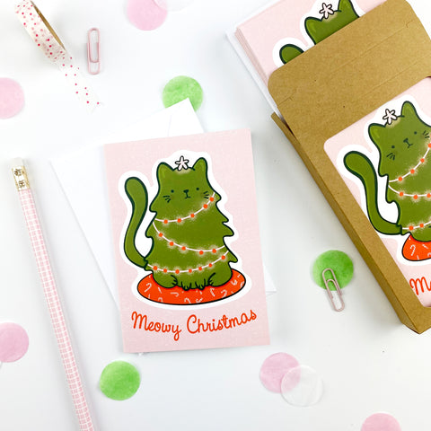 Meowy Christmas Note Cards