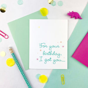 Piece of Paper Birthday Card
